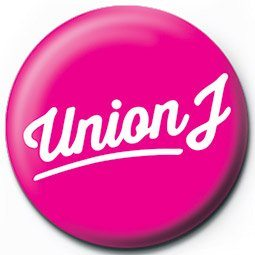 Pins UNION J - pink logo
