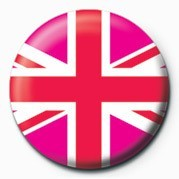 Pins Union Jack (Pink)