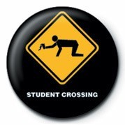 Pins WARNING SIGN - STUDENT CRO