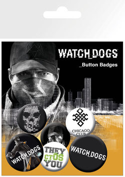 Conjunto de crachás Watch dogs – aiden