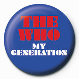 Pins WHO - my generation logo
