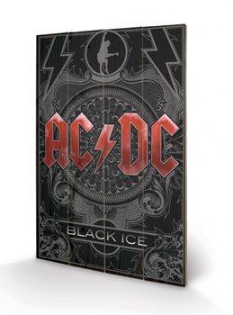 Pintura em madeira AC-DC - Black Ice