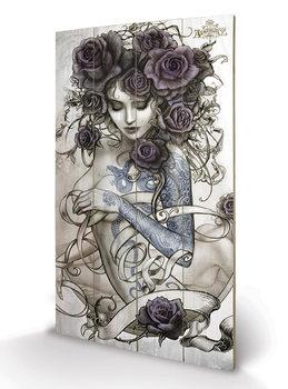 Pintura em madeira Alchemy - Les Belles Dames de la Rose