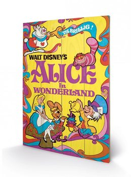 Pintura em madeira Alice In Wonderland - 1974
