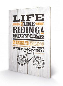 Pintura em madeira  Asintended - Riding A Bicycle
