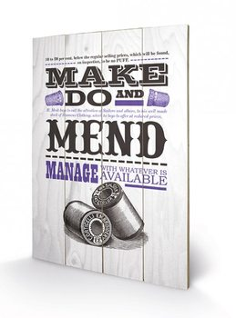 Pintura em madeira Asistended - Make Do And Mend