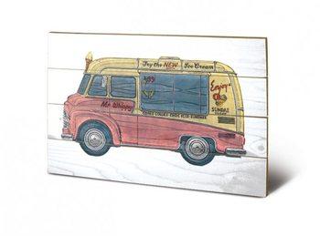 Pintura em madeira BARRY GOODMAN - icecream van