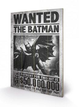 Pintura em madeira Batman Arkham Origins - Wanted