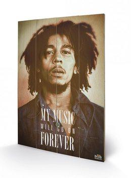 Pintura em madeira  Bob Marley - Music Forever
