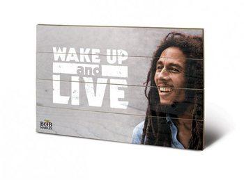 Pintura em madeira Bob Marley - Wake Up & Live