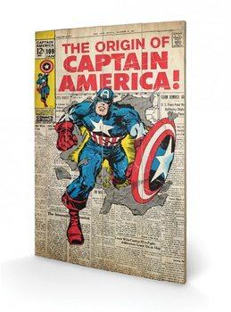 Pintura em madeira Captain America - Madbomb