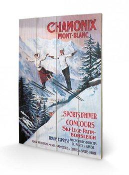 Pintura em madeira Chamonix Mont-Blanc