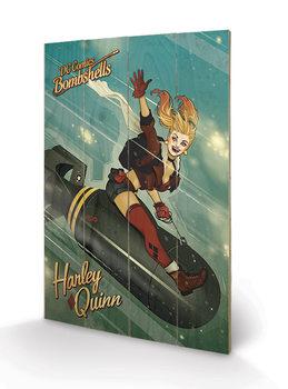 Pintura em madeira DC Comics: Bombshells - Harley Quinn Bomb