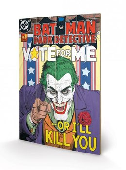 Pintura em madeira DC COMICS - joker / vote for m