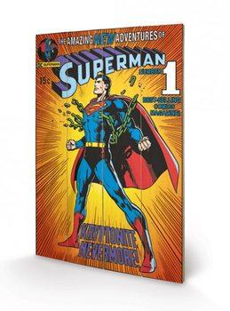 Pintura em madeira DC COMICS - superman / krypt.