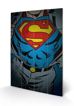 Pintura em madeira DC Comics - Superman Torso