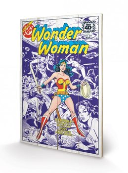 Pintura em madeira DC COMICS  wonder woman body snatcher from space