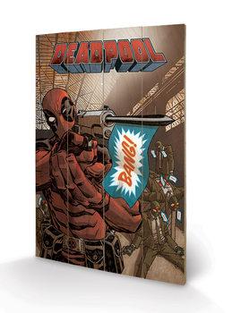 Pintura em madeira Deadpool - Bang