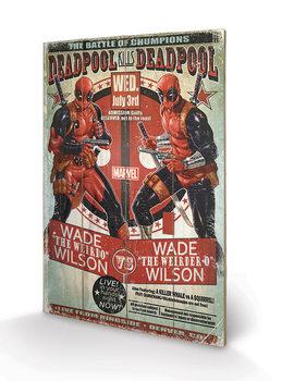 Pintura em madeira Deadpool - Wade vs Wade