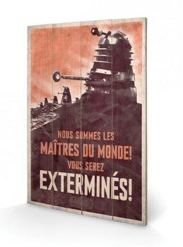 Pintura em madeira Doctor Who - Extermines