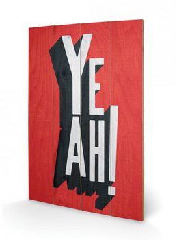 Pintura em madeira Edu Barba - Yeah
