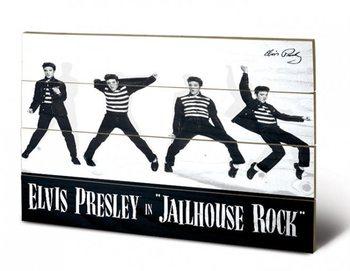 Pintura em madeira  Elvis - Jailhouse Rock
