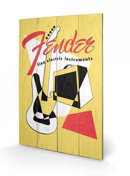 Pintura em madeira Fender - Abstract