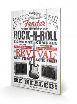Pintura em madeira Fender - The Spirit of Rock n' Roll