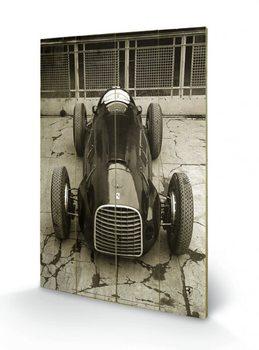 Pintura em madeira Ferrari F1 - Vinatge 125