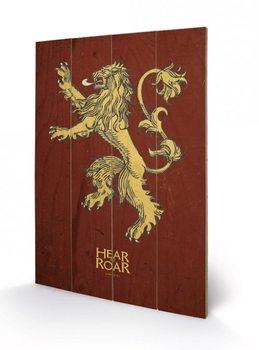 Pintura em madeira Game of Thrones - Lannister