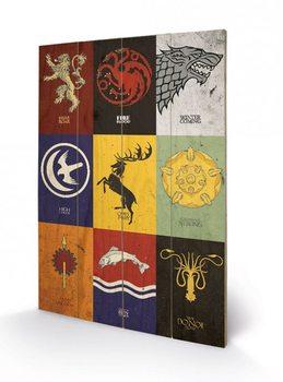 Pintura em madeira Game of Thrones - Sigils