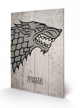 Pintura em madeira Game of Thrones - Stark