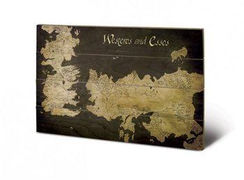 Pintura em madeira Game of Thrones - Westeros
