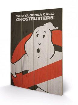 Pintura em madeira Ghostbusters - Logo