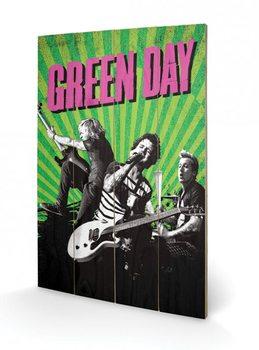 Pintura em madeira Green Day - Uno! Dos! Tre!