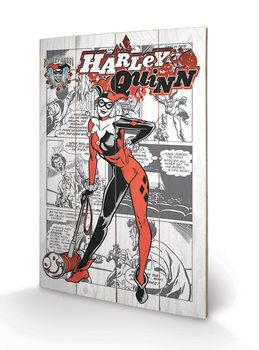 Pintura em madeira Harley Quinn - aka Dr. Harleen Francis Quinzel