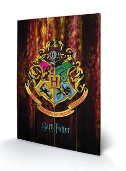 Pintura em madeira Harry Potter - Hogwarts Crest