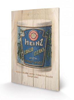 Pintura em madeira Heinz - Vintage Beans Can