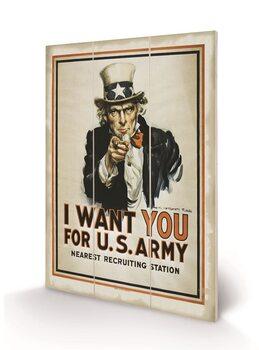 Pintura em madeira I Want You (Uncle Sam)