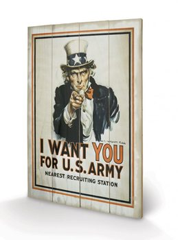 Pintura em madeira I Want You - Uncle Sam