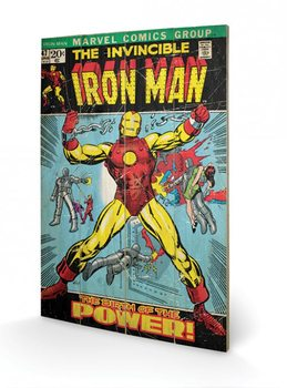 Pintura em madeira Iron Man - Birth Of Power