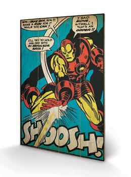 Pintura em madeira Iron Man - Shoosh