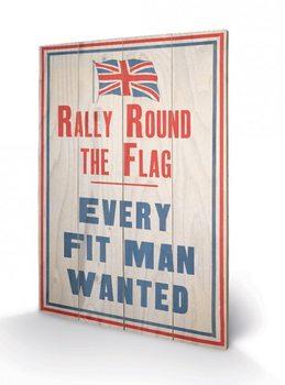 Pintura em madeira IWM - rally round the flag