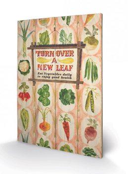 Pintura em madeira IWM - Turn Over A New Leaf