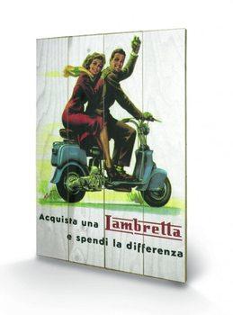 Pintura em madeira Lambretta - Differenza