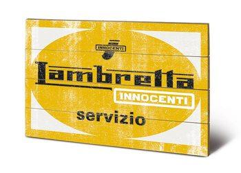 Pintura em madeira Lambretta servizio
