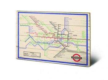 Pintura em madeira London Transport