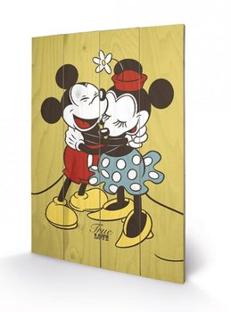 Pintura em madeira Mickey & Minnie Mouse - True Love