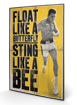 Pintura em madeira Muhammad Ali - Float Like A Butterfly