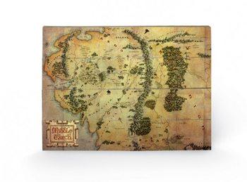 Pintura em madeira O Hobbit - mapa da Terra Média